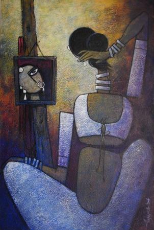 Adorned - 50cm x 76cm Acrylic on Canvas