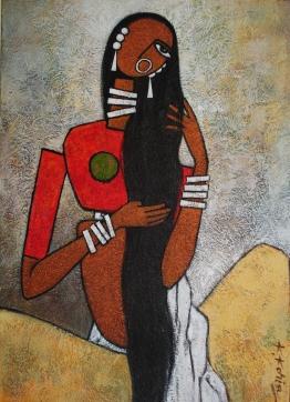 Uma - Acrylic on Canvas - 70cm x 50cm £500