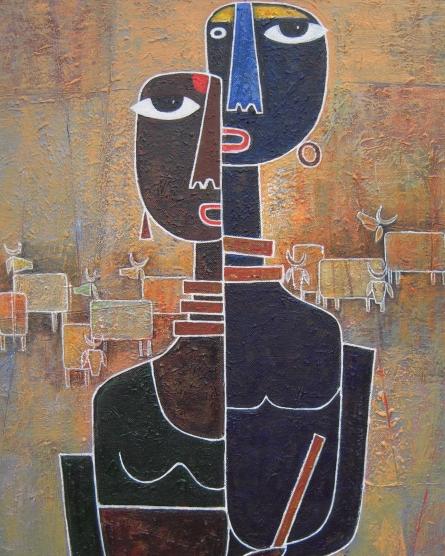 Radha Gopal - 42cm x 63cm - Acrylic on Canvas