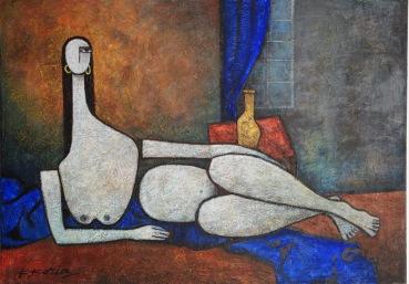Nude - 50cm x 70cm - Acrylic on Canvas
