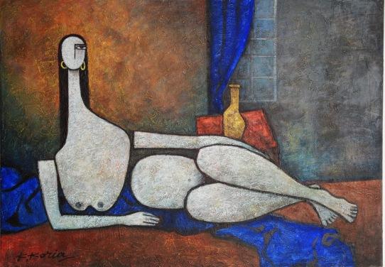 Nude - 50cm x 70cm - Acrylic on Canvas £500