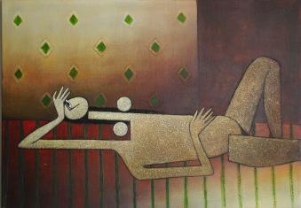 Nude 2 - 50cm x 70cm - Acrylic On Canvas