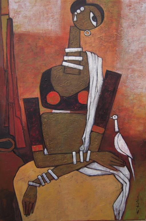 White Bird - 50cm x 75c - Acrylic on Canvas