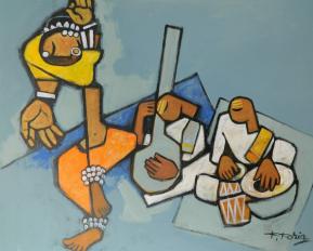 Classical Dance - 80cm x 100cm Acrylic on Canvas