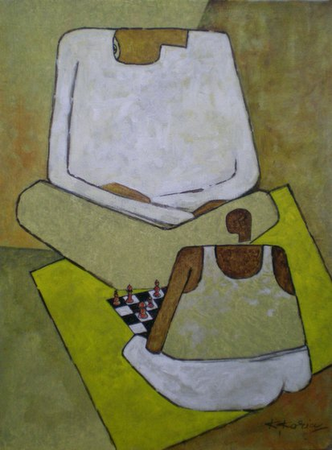 Chess Player - 40cm x 30cm