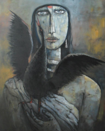Black Bird - Oil on Canvas