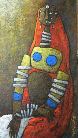 Portrait - 40cm x 80cm Acrylic on Canvas £700
