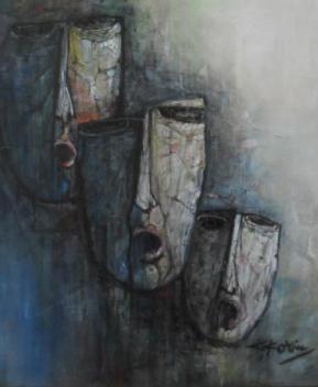 3 Faces - 100cm x 80cm