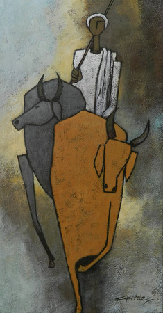 Gowal- 40 x 80cm Acrylic on Canvas SOLD
