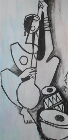 Instrumental - 40cm x 60cm -Acrylic on Canvas SOLD