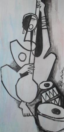 Instrumental - 40cm x 60cm -Acrylic on Canvas SOLD