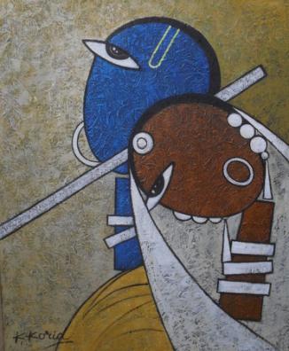 RadheKrishn II - 40cm x 50cm - Acrylic on Canvas