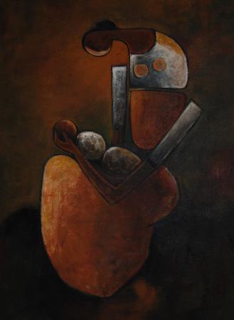 Mother & Child - 30cm x 40cm - Oil on Canvas