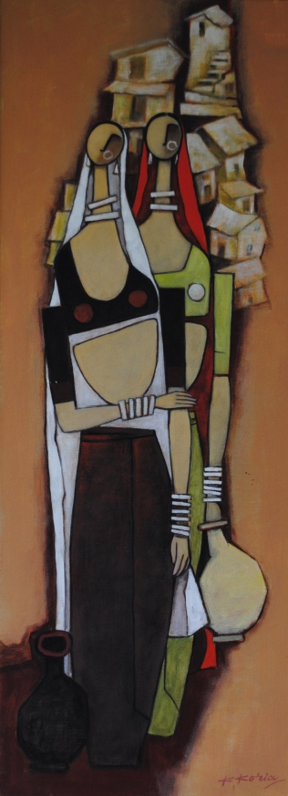 In my village I - 30cm x 80cm - Acrylic on Canvas