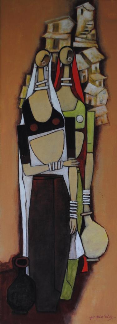 In my village I - 30cm x 80cm - Acrylic on Canvas