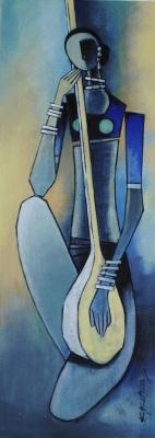 Sangeet - 30cm x 80cm -Acrylic on Canvas - £450