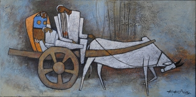 Family Journey - 40cm x 80cm Acrylic on canvas - SOLD - Prints available