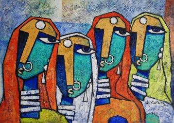 Garvita - Acrylic on Canvas - 50cm x70cm - Sold - Prints available