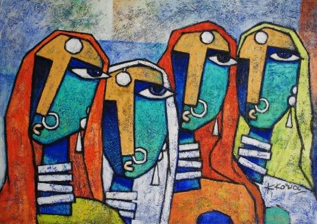 Garvita - Acrylic on Canvas - 50cm x70cm - Sold