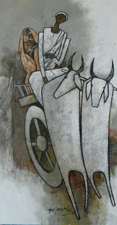 Journey - 76 x 40cm - Acrylic on canvas - SOLD