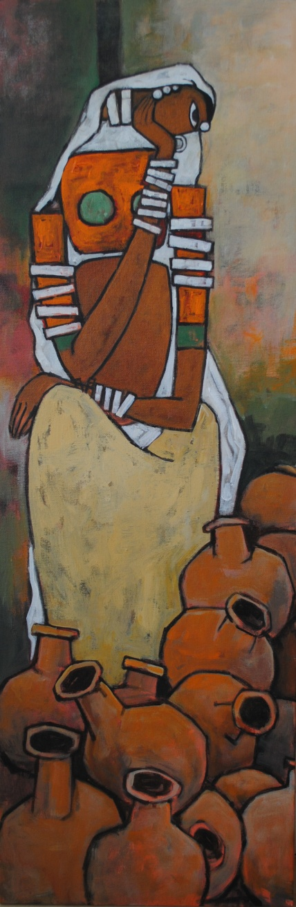 Matka -30cmx60cm - Acrylic on canvas